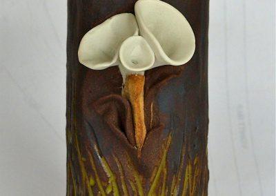 Alien Botanical Vase Porcelain & Stoneware Reduction Fired