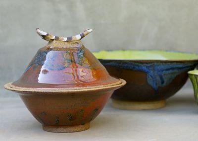 Samurai Pot Stoneware Reduction Fired
