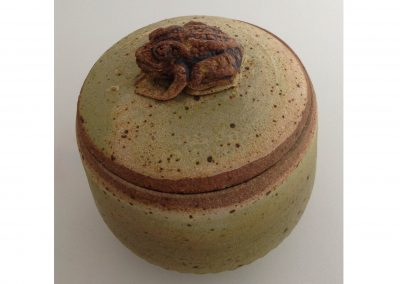 """Toad Pot"" 4"" diameter Stoneware Reduction Fired"