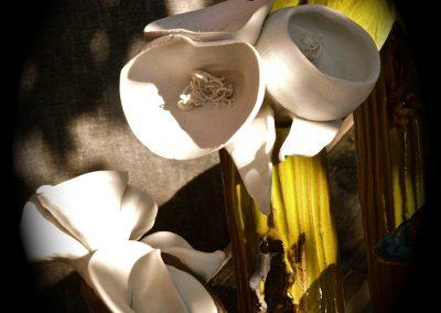 Detail of Alien Botanical, Stoneware & porcelain
