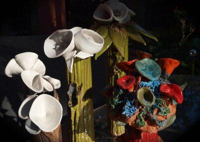 "Detail of Alien Botanical, 7"" x 5"" Stoneware & porcelain"