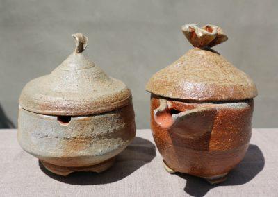 Cream & Sugar Pots Kazegama Ash-Fired Porcelain