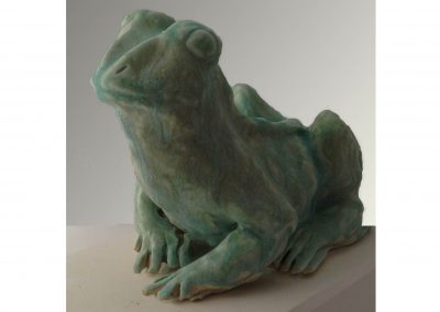 """Frog Study"" 4""x7"" Porcelain Oxidation Fired"
