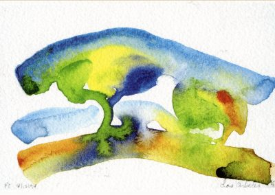 """""""Two Trees"""" 5""""x7"""" Watercolor"""