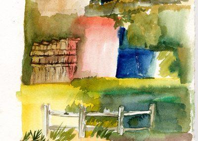 """Carmel Valley Vignets 8""""x16"""" Watercolor"""