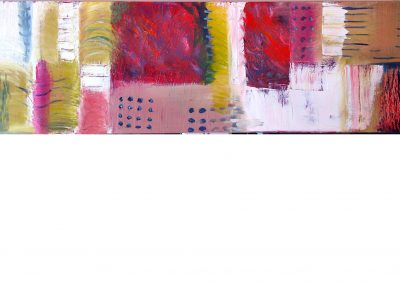 """32 """"Fire Fragment"""" 10""""x30"""" Oil on Canvas"""