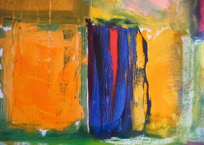 """Magi"" 72""x48"" (Detail)  Oil on Canvas"