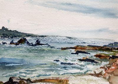 """Stillwater Cove 5""""x 12"""" Watercolor"""