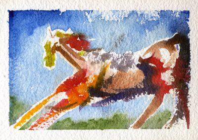 """Michal's Horse"" 12""x8"" Watercolor"