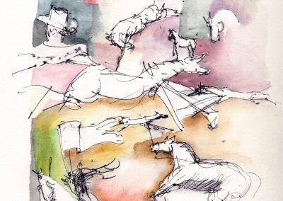 """""""At the Rodeo"""" 10""""x 14"""" Watercolor"""