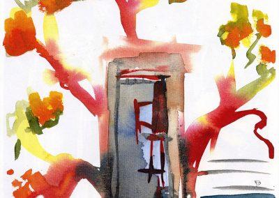 """Charley's Tree"" 8""x9"" Watercolor"