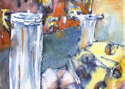 """Still Life"" 8""x9"" Watercolor"
