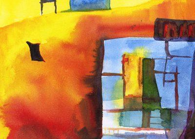 "Calendar Days 6""x7"" Watercolor"